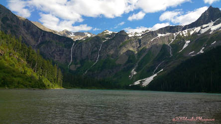 Avalanche Lake   Glacier National Park by The-Empty-River