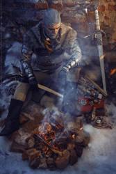 Winter halt of the Witcher by RavenN1ght