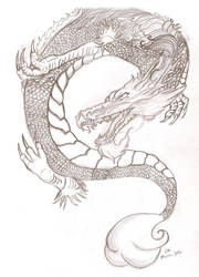 dragon tattoo design by CaityleeLove