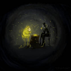 Black and Gold Tea by Lithe-Fider