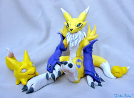Renamon Figure and Baby forms by Lithe-Fider