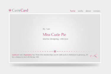 CutieCard HTML-CSS template by rjoshicool