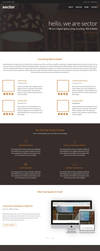 Sector- Free One Page PSD Template by rjoshicool