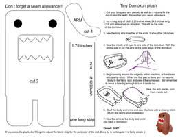 Domokun Plush tutorial by chronicdoodler