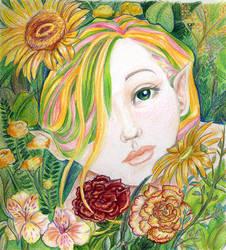 Flower Sprite by chronicdoodler
