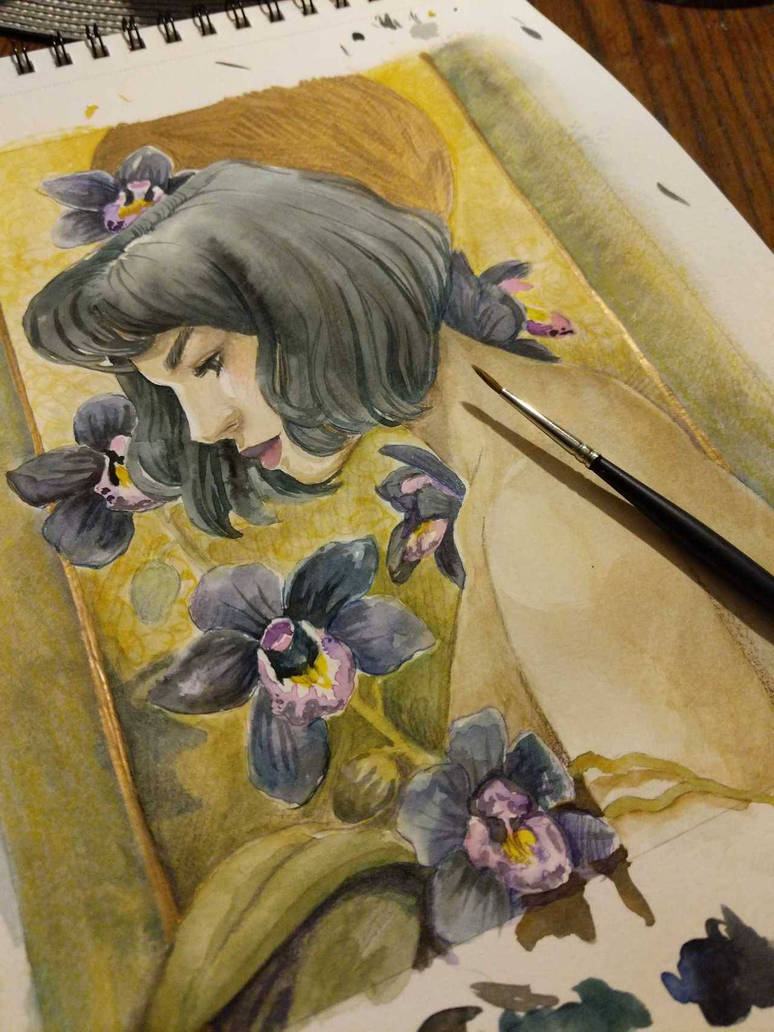 black orchid by chronicdoodler