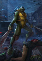 teenage mutant ninja turtles Leonardo by DanteCyberMan