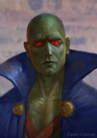 martian manhunter J'onn J'onzz by DanteCyberMan