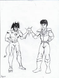 KEN and Devilman:BROFIST! by Arak-8