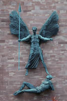 St Michael and the Devil 2 by BlissStock