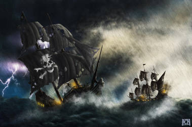 Pirate Ship Battle by AhmetCanKahraman