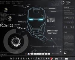 Rainmeter Iron Man Tech by Larcx94