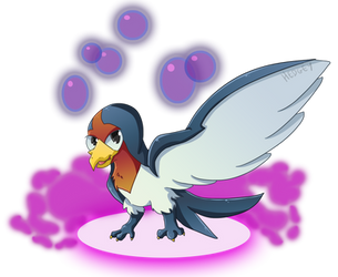 Taillow used Toxic! by Hedgey
