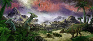 Parasaurolophus by GwilymG