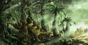 Stegosaurus by GwilymG