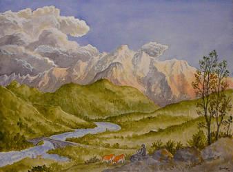 Alpine-landscape by GwilymG