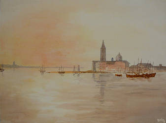 Watercolour exercise after JMW Turner : Venice by GwilymG