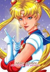 Coloring Sailormoon by serunisavana