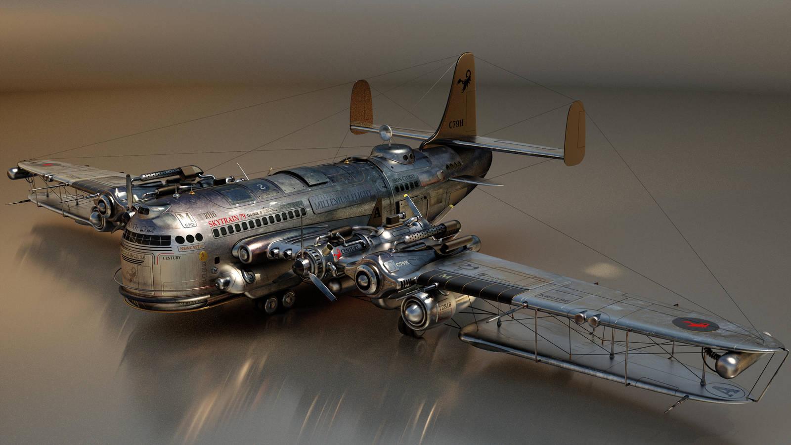 An Awkward Aeroplane by kceg