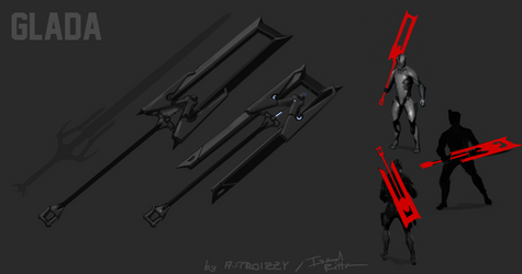 Warframe Melee Weapon Concept - GLADA by FlixandISi