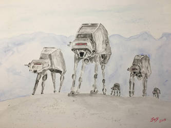 AT-AT Star wars by patacow