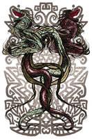 Quetzalcoatl - Tezcatlipoca by mysticnova7