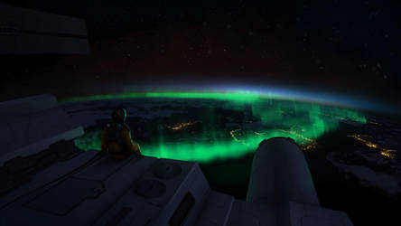 Aurora from Above by SpartanK42