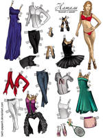 Natalie: to cut and to dress! (paper doll) by taich-papaich