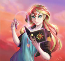 Sunset Shimmer :re :re :re by The-Park