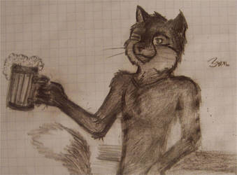 furry cat by greenroach