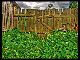 Old Wooden Gates by kiokiliant
