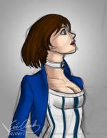 Bioshock Infinite - Elizabeth Sketch by Sawuinhaff