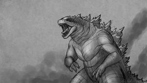 Godzilla Sketch by Sawuinhaff
