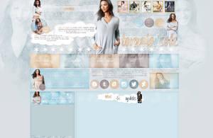 Design for my site ft. Lais Ribeiro by Helcabu
