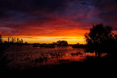 Sunset after rain by Helcabu