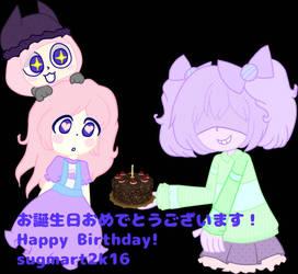 HAPPY BIRTHDAY nanoko_amai    by sugmartchan