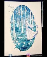 Inktober day 19: Ghost by Luciferys