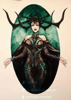 Inktober day 29: Hela by Luciferys