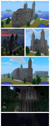 Minecraft Cathedral - Exterior by andrei030