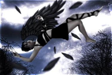 Fallen Angel by katykittykat