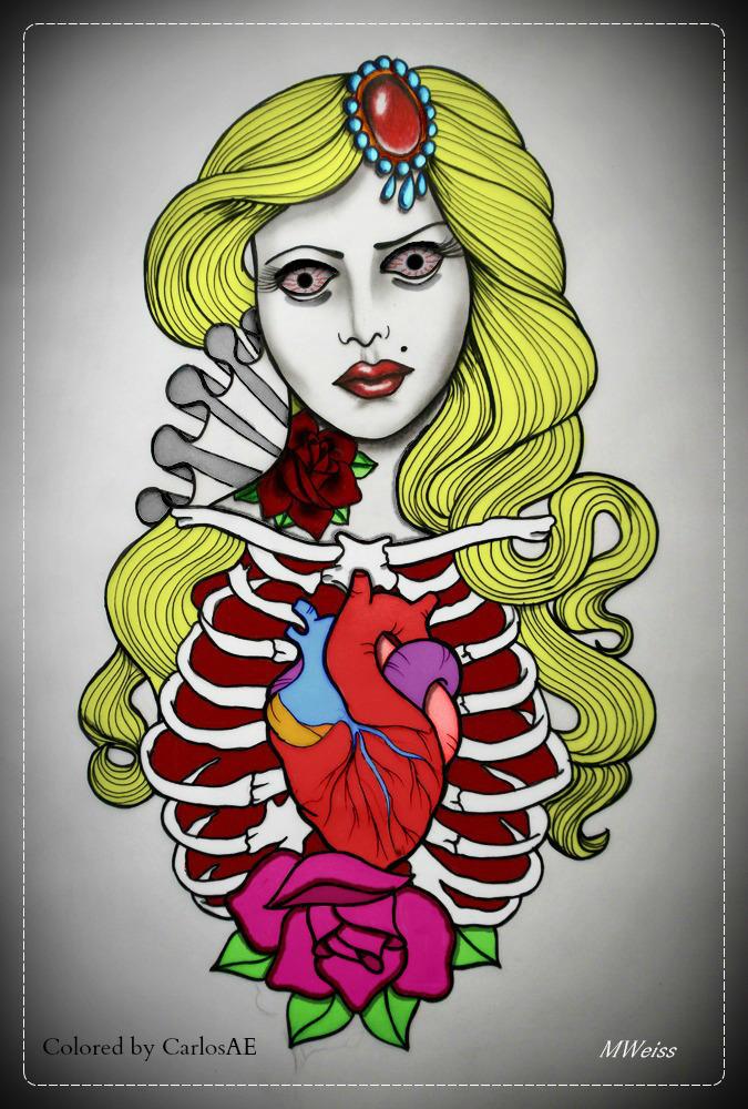 Undead Blondie Tattoo by CarlosAE