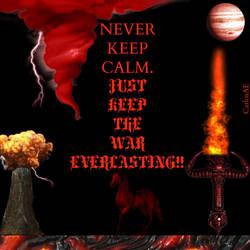 KEEP CALM WAR by CarlosAE