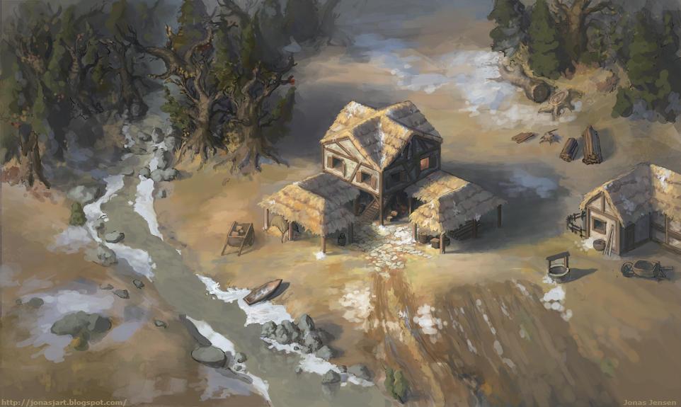 Age of Empires Town Center by JonasJensenArt