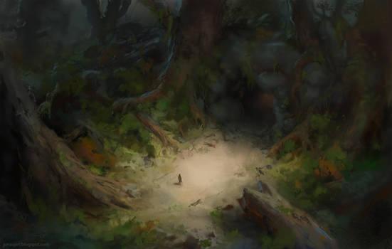 Isometric forest by JonasJensenArt