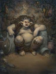 Fat Goblin King by JonasJensenArt