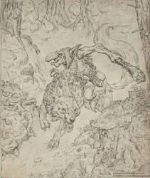 Goblin Wolfrider by JonasJensenArt