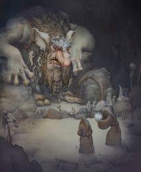 Troll king by JonasJensenArt