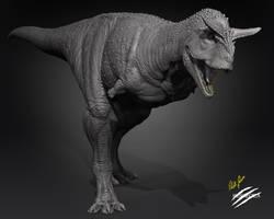 Carnotaurus by robertfabiani