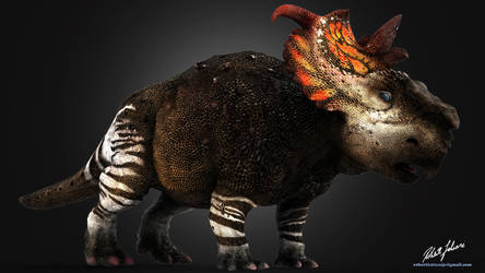 Pachyrhinosaurus lakustai okapachi by robertfabiani