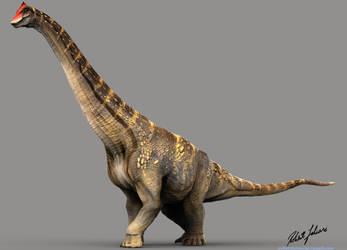 Alamosaurus by robertfabiani